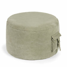 PUSHBAG Sitzsack-Hocker Roll Pocket Canvas stonewashed oliv