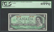 Canada One Dollar 1967 BC-45a Uncirculated  Graded 65