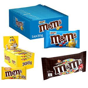 M&M Peanut M&M Crispy M&M Choco Chocolate Bags Colourful Sugar Shell 8-24 Pcs