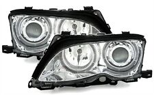 FEUX AV CCFL ANGEL EYES CHROME BMW SERIE 3 E46 2001-2005 BERLINE 330d 330i