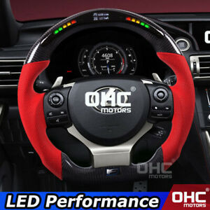 Real Carbon Fiber LED Steering Wheel for Lexus CT IS NX  RC F