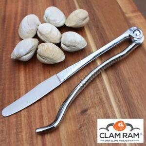 "4/"" Rail fonte fer forgé fer couteau à huîtres coquillages shucker Clam Shell Opener"