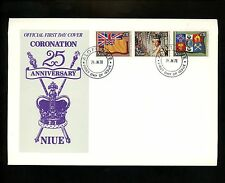 Postal History Niue FDC #221 Queen Elizabeth Coronation royalty 1978