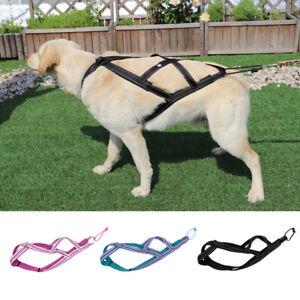 Pet Dog Weight Pulling Sledding Harness X Back Training Padded Vest Medium Large