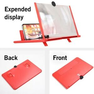 12Inch Smartphone Screen Magnifier 3D Video Mobile Phone Amplifier Stand Bracket