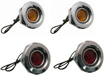 1968 Dodge Coronet Front & Rear Side Marker Lens Set of 4-NEW