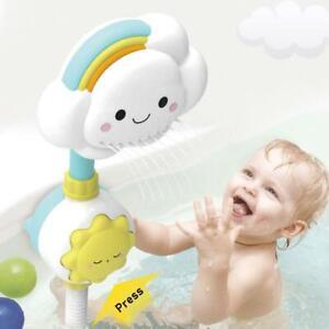 Cartoon Baby Bath Cloud Rainbow Spray Shower Toys Tub Bathroom Playing Fun Toy