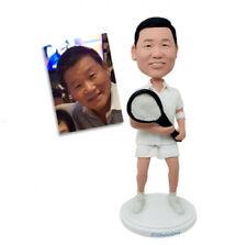 Handmade Personalized Bobblehead Custom Creative Gifts Tennis Man Polymer Clay