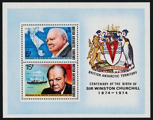 British Antarctic Territory 63a MNH Winston Churchill, Map, Ship, Crest, Bird