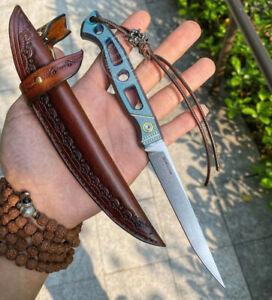 M390 Blade Folding Knife Tactical Rescue Fish Knife Saber Titanium Alloy Sheath