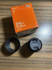 Sony SEL 50mm f/1.8 Lens OSS E-Mount Black (SEL50F18) Hood Cap Portrait Lens