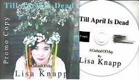 LISA KNAPP Till April Is Dead 2017 UK 12-trk promo test CD