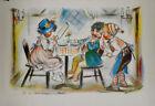 Grande gravure Germaine Bouret ancienne