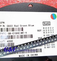 50pcs RGB LED SMD SMT 0603 Super bright LED lamp Bulb GOOD QUALITY
