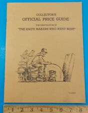 VINTAGE COLLECTORS OFFICIAL PRICE GUIDE FOR FIRST EDITION KNIFE MAKERS STIDHAM