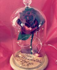 🌹Beauty and the Beast Enchanted Rose *Personalised Wood Engraving*🌹