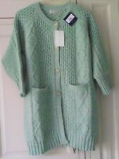 """LOCH CARRON / LOCHCARRON LONG CARDIGAN - GREEN - SIZE 40""""/102 CABLE PATTERN NEW"""