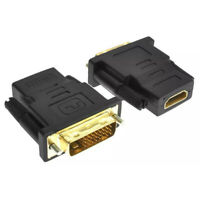 HDMI FEMALE TO DVI-D (24+1) MALE GOLD SOCKET ADAPTOR ADAPTER CONVERTER