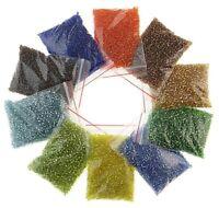 Rocailles Silbereinzug Perlen Set 2mm 3mm 4mm 24 Farben Mix Rainbow BEST AM25