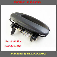 New Outside Door Handle Rear Left Drive Exterior Black For Chevy Aveo 4 96583052