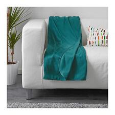 IKEA Skogsklocka Throw Rug Blanket Green-blue 170 X 130cm