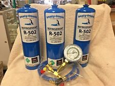 R502, 502, R-502, Recharge Kit, (3) 28 oz. Cans, Check & Charge-It Gauge & Hose