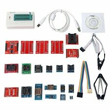 21 Adapters TL866A Universal Minipro EPROM Programmer IC Clip Clamp AVR PIC BIOS