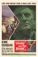LONELY ARE THE BRAVE MOVIE POSTER Original 1962 Folded  One Sheet  KIRK DOUGLAS