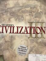 Sid Meier's Civilization III Game Big Box Firaxis/ Infograms Original Game PC