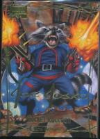 2016 Marvel Masterpieces Gold Signature Trading Card #51 Rocket Raccoon /1499