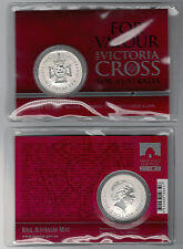 2014 $5 1oz 99.9% Silver Frosted UNC Coin - For Valour - The Victoria Cross