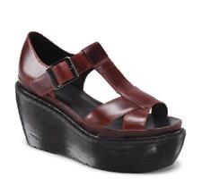 Doc Marten Adaya oxblood platform cross strap wedge shoe sandal UK9 US11L