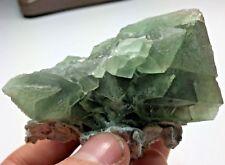 Cool Green Fluorite w/ Calcite Xls: Cookes Range. Luna Co., New Mexico