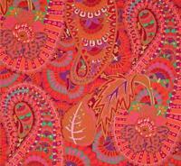 BELLE EPOCH ~Kaffe Fassett ~PAISLEY~Orange ~Westminster~Rowan ~ Fabric ~1/2 yard