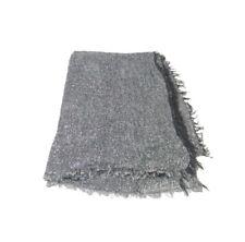 Pashmina grigia melange filo lurex argento sciarpa donna nuovi arrivi