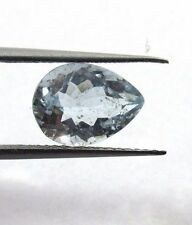 2.10 Ct Natural Aquamarine Loose Gemstone 10.3x7.6mm Pear Faceted Cut S42