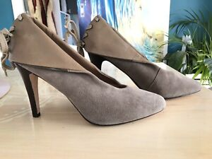 RMK Leather Heels With Back Lace Detail. Size 9.5