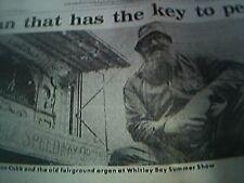 ephemera picture alan cobb whitley bay fairground organ