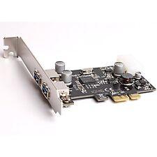 BIGtec 2x USB 3.0 Port Controller Adapter PCI-Express PCIe x1 Erweiterungskarte