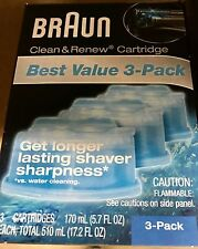 Braun Clean and Renew Cartridges 3 pack