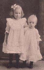 "ANTIQUE/VINT. CABINET CARD OF CUTE SISTER & BROTHER 6"" X 8"""