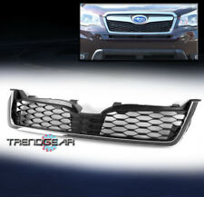 FRONT HOOD LOWER HONEYCOMB MESH GRILLE GRILL BLACK FOR 2014-2016 SUBARU FORESTER