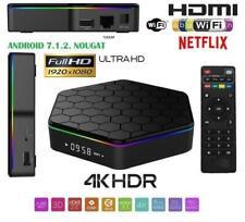 SMART TV BOX T96 PRO Android 7.1 4K ultra HD 4 GB 32G smart tv wifi telecomando