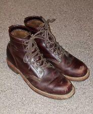 Original Chippewa for J.Crew Plain-Toe Boots Burgundy Brown Size 9 1/2 USA