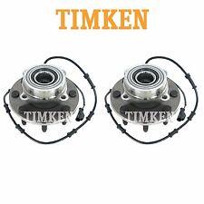 For Dodge Ram 2500 4WD Pair Set of 2 Front Wheel Bearings Hub Assemblies Timken