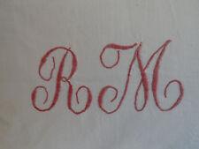 Cuscino 100x50 cm Antico Lino con Monogramma RM incl. Cuscini imbottiti