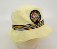 Singapore Island Country Club Bucket Hat Cap Golf Patch Yellow Vtg