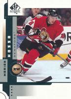 Marian Hossa 2001-02 SP Authentic #57 Ottawa Senators Hockey Card