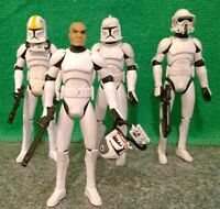 Star Wars Clone Wars - Pilots Matchstick & Odd Ball, Clone Trooper + ARF Trooper