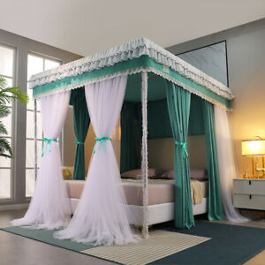 double rails stainless steel tubes mosquito net 2 PLY light shading bed curtain